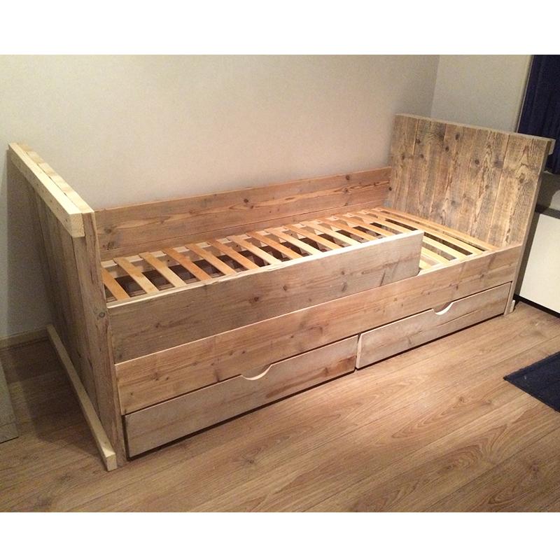 Genoeg Kinderbed 'Jordy', met lades – RP Worx houtprojecten &VS53